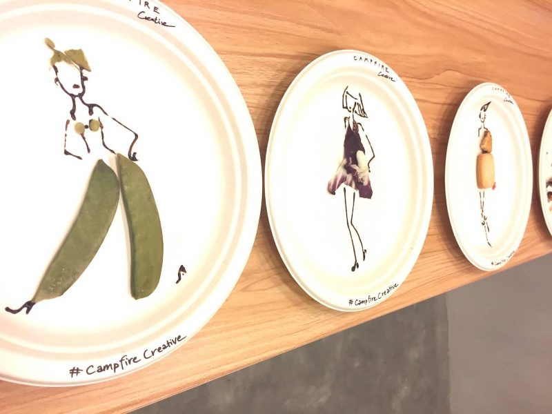 Unusual event with food illustrations
