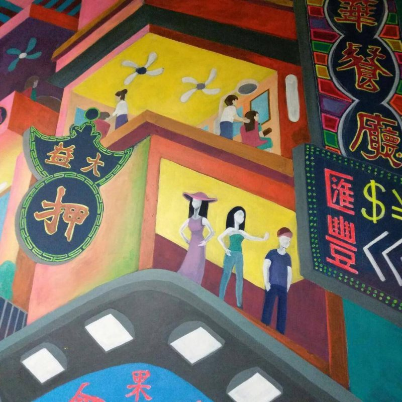 Wall painting in Hong Kong